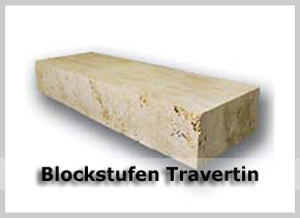 TRAVERTIN Blockstufen