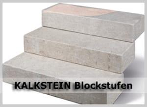 Kalkstein Blockstufen