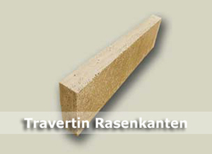 Travertin Rasenkanten