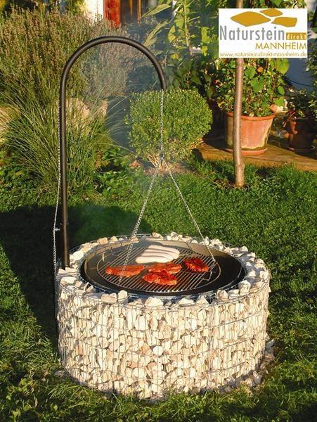 feuer und grillstelle inkl grillgalgen naturstein direkt mannheim. Black Bedroom Furniture Sets. Home Design Ideas