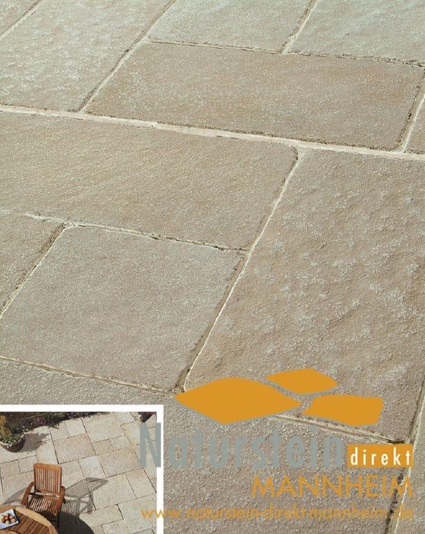 Terrassenplatten kalkstein marrakesch naturstein direkt for Gartengestaltung 70 qm
