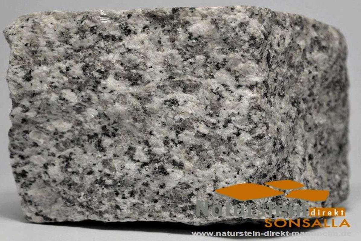 Granit pflastersteine laubaner grau naturstein direkt for Gartengestaltung 1000 m2