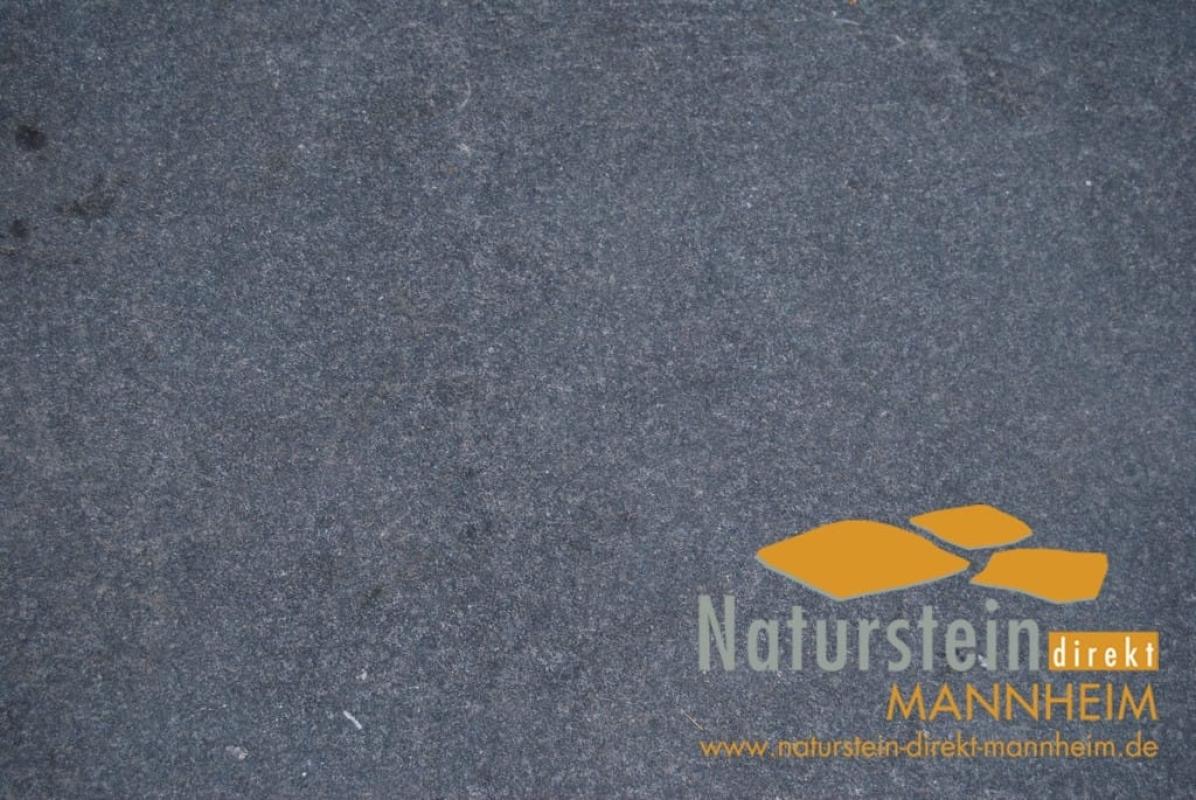 Terrassenplatten Granit Nero Dark Schwarz Geflammt Geburstet